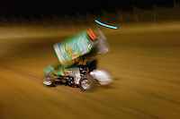 """.Steve Kinser races to his 501st. """"A"""" Main win......ref: Digital Image Only"""