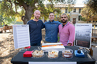 "From left, Dylan Sullivan '21, Tyler Melchisky '21 and Alexander Borges '21.<br /> The Occidental College Veterans Program hosts ""Hug-A-Vet"" in the Academic Quad on Nov. 11, 2019, Veterans Day. Students could stop by for snacks, hugs, high fives and conversation with Oxy veterans, who shared information about Oxy's military history and answered questions about their paths to college.<br /> (Photo by Marc Campos, Occidental College Photographer)"