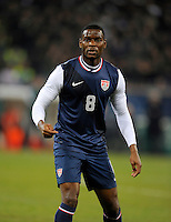 Maurice Edu (USA), during the friendly match Italy against USA at the Stadium Luigi Ferraris at Genoa Italy on february the 29th, 2012.