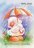 Ron, CUTE ANIMALS, Quacker, paintings, duck, umbrella(GBSG6440,#AC#) Enten, patos, illustrations, pinturas