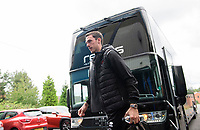 Blackpool's Ben Heneghan gets off the team bus after arriving at the ground<br /> <br /> Photographer Chris Vaughan/CameraSport<br /> <br /> The EFL Sky Bet League One - Coventry City v Blackpool - Saturday 7th September 2019 - St Andrew's - Birmingham<br /> <br /> World Copyright © 2019 CameraSport. All rights reserved. 43 Linden Ave. Countesthorpe. Leicester. England. LE8 5PG - Tel: +44 (0) 116 277 4147 - admin@camerasport.com - www.camerasport.com