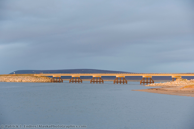 Bridge over Safety Sound in Nome, western arctic, Alaska.