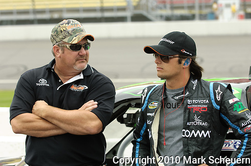 June 12 2010: Nelson Piquet Jr. during qualifying for the NASCAR Camping World Truck Series VFW 200 at Michigan International Speedway, Brooklyn, Michigan