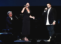 LOS ANGELES - SEPTEMBER 19:  David Foster, Katharine McPhee and Fernando Varela at the 2017 Grammy Museum Gala Honoring David Foster at The Novo on September 19, 2017 in Westwood, California. (Photo by Scott Kirkland/PictureGroup)
