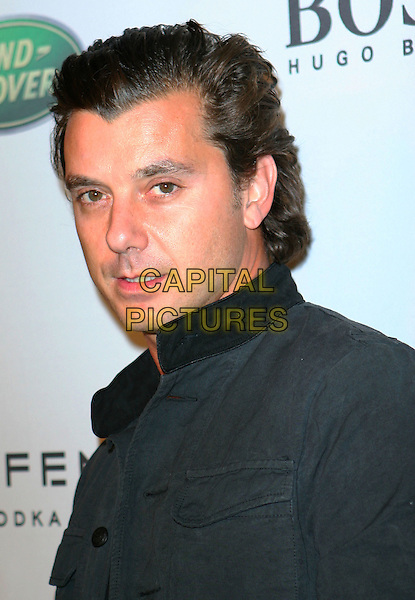 "GAVIN ROSSDALE .VH1 Save the Music Foundation partners with Esquire Magazine's ""Hollywood Hills"" House and Gavin Rossdale who hosts a benefit to celebrate music education in LA public schools held at Esquire House in the Hollywood Hills, Hollywood, California, USA..October 25th, 2008.headshot portrait black .CAP/ADM/TC.©T. Conrad/AdMedia/Capital Pictures."