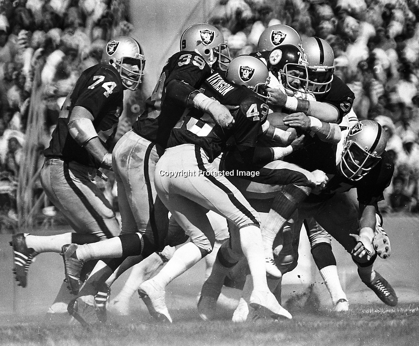 Host of Oakland Raider's mob Steeler Rocky Blier..photo by Ron Riesterer
