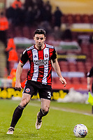 Sheffield United's defender Enda Stevens (3) during the Sky Bet Championship match between Sheff United and Cardiff City at Bramall Lane, Sheffield, England on 2 April 2018. Photo by Stephen Buckley / PRiME Media Images.