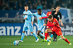 Jiangsu FC Midfielder Ramires Santos (L) fights for the ball with Adelaide United Forward Jordan O'doherty (R) during the AFC Champions League 2017 Group H match between Jiangsu FC (CHN) vs Adelaide United (AUS) at the Nanjing Olympics Sports Center on 01 March 2017 in Nanjing, China. Photo by Marcio Rodrigo Machado / Power Sport Images