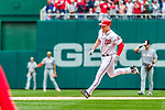 3 April 2017: Washington Nationals outfielder Adam Lind rounds the bases after hitting a go-ahead, 2-run homer in the 7th inning against the Miami Marlins on Opening Day at Nationals Park in Washington, DC. The Nationals defeated the Marlins 4-2 to open the 2017 MLB Season. Mandatory Credit: Ed Wolfstein Photo *** RAW (NEF) Image File Available ***