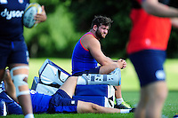 Nathan Catt of Bath Rugby looks on from the sidelines. Bath Rugby pre-season training session on August 9, 2016 at Farleigh House in Bath, England. Photo by: Patrick Khachfe / Onside Images