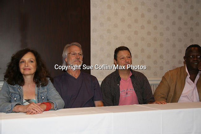 Deborah Van Valkenburgh, Michael Beck, Terry Michos and Dorsey Wright - The Warriors - 30 years reunion during Q & A at the Super Megashow & Comic Fest on August 30, 2009 in Secaucus, New Jersey (Photo by Sue Coflin/Max Photos)