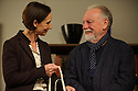 London, UK. 02.10.2015. THE FATHER, written by Florian Zeller, in a new translation by Christopher Hampton, opens at Wyndham's Theatre. Directed by James Macdonald, with lighting design by Guy Hoare, and set and costume design by Miriam Buether. Picture shows: Rebecca Charles (woman), Kenneth Cranham (Andre). Photograph © Jane Hobson.