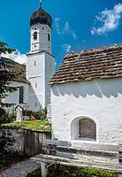 Deutschland, Bayern, Oberbayern, Starnberger See, Tutzing: Kapelle, Ilkahoehe | Germany, Bavaria, Upper Bavaria, Lake Starnberg, Tutzing: chapel