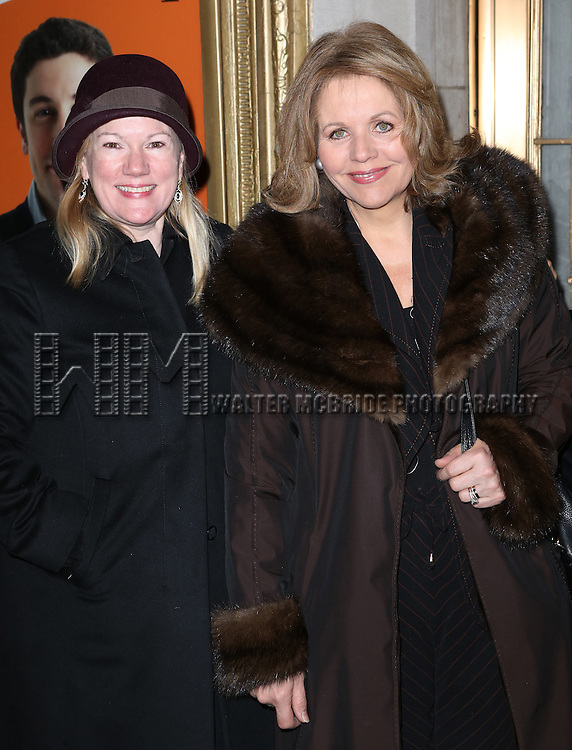 Kathleen Marshall and Renee Flemming attend the Broadway Opening Night performance of 'The Heidi Chronicles' at The Music Box Theatre on March 19, 2015 in New York City.