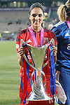 Olympique Lyonnais' Louisa Necib celebrates the victory in the UEFA Women's Champions League 2015/2016 Final match.May 26,2016. (ALTERPHOTOS/Acero)