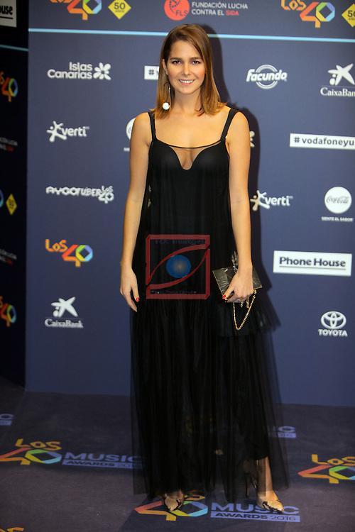 Los 40 MUSIC Awards 2016 - Photocall.<br /> Natalia Sanchez.