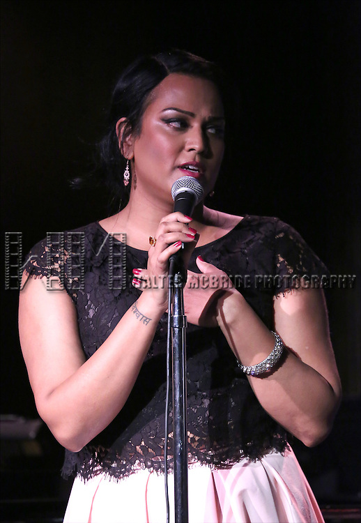 Aneesh Sheth performing at The Lilly Awards Broadway Cabaret at the Cutting Room on October 17, 2016 in New York City.
