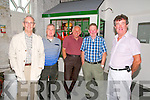 Lartigue Railway Family Gathering: Pictured at the Lartigue Railway family gathering held in Listowel on Friday evening last were Jed Chute, Michael O'Sullivan, Pat Walsh, Tom Enright & Brendan Kenny.