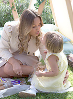 28 August 2019 - London, UK - Sam Faiers and her family had fun in the sun at the Cadbury Mini Bites Everyday Adventure Picnic at London Wetland Centre. Sam was joined by daughter Rosie Knightley at the event which saw the family enjoy a picnic, feed the ducks and have some fun in a safari themed tepee, all while enjoying Cadbury Mini Bites, the only baked treats on the market that feature the iconic chocolate of Cadbury Dairy Milk.    <br /> CAP/ADM/ALPR<br /> ©ALPR/ADM/Capital Pictures