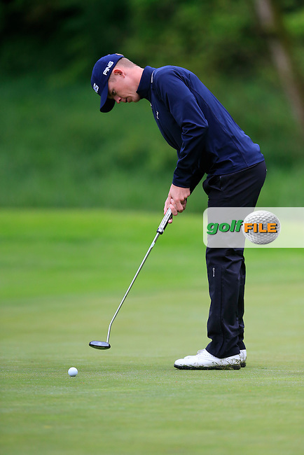 Brandon Stone (RSA) putts on the 17th green during Thursday's Round 1 of the 2016 Dubai Duty Free Irish Open hosted by Rory Foundation held at the K Club, Straffan, Co.Kildare, Ireland. 19th May 2016.<br /> Picture: Eoin Clarke | Golffile<br /> <br /> <br /> All photos usage must carry mandatory copyright credit (&copy; Golffile | Eoin Clarke)