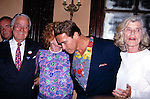 Arnold Schwarzenegger with Pat Kennedy Lawford and his in laws Sargent Shriver and Eunice Shriver New York City.