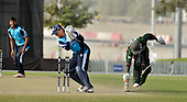 T20 World Cup Qualifying match - Scotland V Kenya at ICC Global Cricket Academy - Dubai - Scotland keeper Craig Wallace takes on of two run-outs (in the last over off the bowling of Safyaan Sharif) that brought the match to a close and winning by 14 runs - Picture by Donald MacLeod  13.3.12  07702 319 738  clanmacleod@btinternet.com