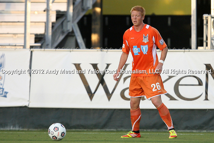 19 May 2012: Carolina's Cory Elenio. The Carolina RailHawks and the Puerto Rico Islanders played to a 1-1 tie at WakeMed Soccer Stadium in Cary, NC in a 2012 North American Soccer League (NASL) regular season game.