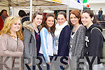 Pictured at the Food for Thought food fair, held in IT Tralee on Wednesday were l-r: Laura Dunworth (Tralee) Niamh Godley (Fenit) Kelly Coffey (Tralee) Stacey Stack (Tralee) Aisling Griffin (Causeway) and Cornelia Prenderville (Ballymac).