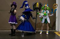 SAO PAULO, SP - 07.07.2017 - ANIME-FRIENDS - <br /> Movimentação do público geek vestidos com <br /> cosplays durante o maior evento de cultura pop <br /> japonesa no Brasil o Anime Friends no Expo <br /> Transamérica, zona sul de São Paulo, nesta <br /> sexta-feira (07).<br /> <br /> <br /> (foto: Fabricio Bomjardim / Brazil Photo Press)