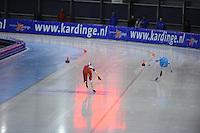 SCHAATSEN: GRONINGEN: Sportcentrum Kardinge, 03-02-2013, Seizoen 2012-2013, Gruno Bokaal, finish, Marije Joling, Lotte van Beek, ©foto Martin de Jong