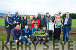 Blades of Fire winner of the Thady , John & Dave Cahill Memorial Island Cup at the 58th Island Cup meeting of the Castleisland coursing Club on Monday. Pictured front l-r Denis Guiney, Kieran Connolly, Ethan Moloney, Eric Jacobson Back l-r Majella Riordan presented to Tom Nolan, Tara Guiney, Mary Guiney presented by Paddy Herlihy, Con Guiney, Jerry Herlihy, Jack Nolan, Mike Currans, Mark Nolan was presented by James Costello