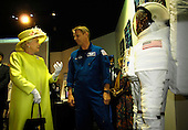 """Queen Elizabeth II talks with Astronaut Piers Sellers at the NASA Goddard Spaceflight Center, Tuesday, May 8, 2007, in Greenbelt, Md.  Queen Elizabeth II and her husband, Prince Philip, Duke of Edinburgh, visited the NASA Goddard Space Flight Center as one of the last stops on their six-day United States visit. Photo Credit: """"NASA/Pat Izzo"""""""