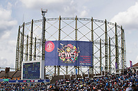 The famous gas tower landmark at the Ovalduring India vs New Zealand, ICC World Cup Warm-Up Match Cricket at the Kia Oval on 25th May 2019