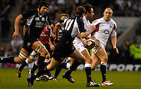Twickenham, GREAT BRITAIN,Harry ELLIS, breaking with the ball, during the  England vs Scotland, Calcutta Cup Rugby match played at the  RFU Twickenham Stadium on Sat 03.02.2007  [Photo, Peter Spurrier/Intersport-images]....
