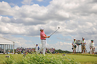 Brandt Snedeker (USA) watches his tee shot on 7 during Sunday's round 4 of the 117th U.S. Open, at Erin Hills, Erin, Wisconsin. 6/18/2017.<br /> Picture: Golffile | Ken Murray<br /> <br /> <br /> All photo usage must carry mandatory copyright credit (&copy; Golffile | Ken Murray)