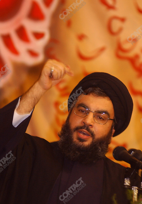 Hassan Nasrullah, the leader of Hezbollah, spoke to an assembled group of former fighters and party members a Ramadan Iftar dinner in Beirut.<br />