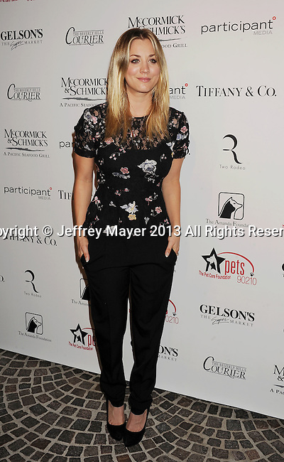 BEVERLY HILLS, CA- OCTOBER 27: Actress Kaley Cuoco attends the Amanda Foundation's Annual Bow Wow Beverly Hills Halloween event at Two Rodeo on October 27, 2013 in Beverly Hills, California.