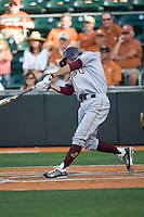 Arizona State Sun Devil shortstop Deven Marrero #17 swings in the first inning against the Texas Longhorns in NCAA Tournament Super Regional baseball on June 10, 2011 at Disch Falk Field in Austin, Texas. (Photo by Andrew Woolley / Four Seam Images)