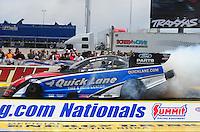 Apr. 1, 2012; Las Vegas, NV, USA: NHRA funny car driver Bob Tasca III during the Summitracing.com Nationals at The Strip in Las Vegas. Mandatory Credit: Mark J. Rebilas-