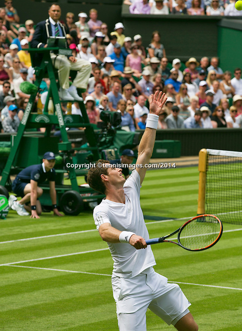 England, London, 23.06.2014. Tennis, Wimbledon, Andy Murray (GBR)<br /> Photo:Tennisimages/Henk Koster
