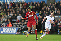 Joel Matip of Liverpool during the Premier League match between Swansea City and Liverpool at the Liberty Stadium, Swansea, Wales on 22 January 2018. Photo by Mark Hawkins / PRiME Media Images.