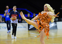 Halftime entertainment during the National Basketball League match between Cigna Wellington Saints and Canterbury Rams at TSB Bank Arena in Wellington, New Zealand on Sunday, 23 June 2019. Photo: Dave Lintott / lintottphoto.co.nz