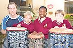 DRUM WORKSHOP: Students of at Holy Family NS, Tralee who enjoyed the African Drum Circle with Niall Delahan of Wassa Wassa Workshops on Friday l-r: Niall Delahan, Niall Fitzmaurice, Whitney Osayanrhion and Rachel Horan.