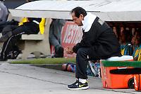 SÃO PAULO, SP,06 MAIO 2012 - CAMPEONATO PAULISTA - GUARANI x SANTOS FINAL - O tecnico Muricy Ramalho  do Santos durante partida Guarani X Santos válido pelo primeiro jogo da final doCampeonato Paulista no Estádio Cicero Pompeu de Toledo  (Morumbi), na região sul da capital paulista na tarde deste domingo  (06). (FOTO: ALE VIANNA -BRAZIL PHOTO PRESS).