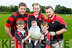 Liam and Donncha Murphy with Jenna, Aoibhin, Jerry and Gearoid Moynihan who are preparing for the Killarney Rugby club family fun day