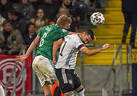 George Saville (Nordirland, Northern Ireland) gegen Ilkay Gündogan (Deutschland, Germany) - 19.11.2019: Deutschland vs. Nordirland, Commerzbank Arena Frankfurt, EM-Qualifikation DISCLAIMER: DFB regulations prohibit any use of photographs as image sequences and/or quasi-video.
