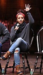 """Sasha Hollinger during the Q & A for The Rockefeller Foundation and The Gilder Lehrman Institute of American History sponsored High School student #EduHam matinee performance of """"Hamilton"""" at the Richard Rodgers Theatre on 3/15/2017 in New York City."""