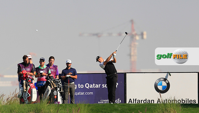 Alex NOREN (SWE) tees off the 9th tee during Thursday's Round 2 of the 2015 Commercial Bank Qatar Masters held at Doha Golf Club, Doha, Qatar.: Picture Eoin Clarke, www.golffile.ie: 1/22/2015