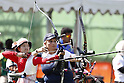 Kaori Kawanaka (JPN), <br /> AUGUST 5, 2016 - Archery : <br /> Women's Individual Ranking Round <br /> at Sambodromo <br /> during the Rio 2016 Olympic Games in Rio de Janeiro, Brazil. <br /> (Photo by Yusuke Nakanishi/AFLO SPORT)