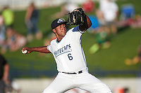 West Michigan Whitecaps relief pitcher Adenson Verastegui (6) during a game against the Burlington Bees on July 25, 2016 at Fifth Third Ballpark in Grand Rapids, Michigan.  West Michigan defeated Burlington 4-3.  (Mike Janes/Four Seam Images)